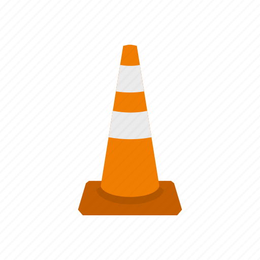 attention, cone, construction, danger, safety, stop, traffic icon