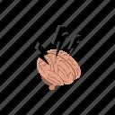 background, brain, idea, intelligence, isometric, lightning, storm icon