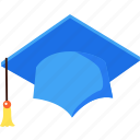 degree, education, graduate, hat, study, university icon