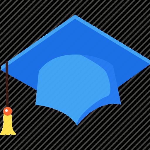 degree, education, graduate, hat, study, university icon