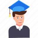 education, graduate, graduation, hat, student, study