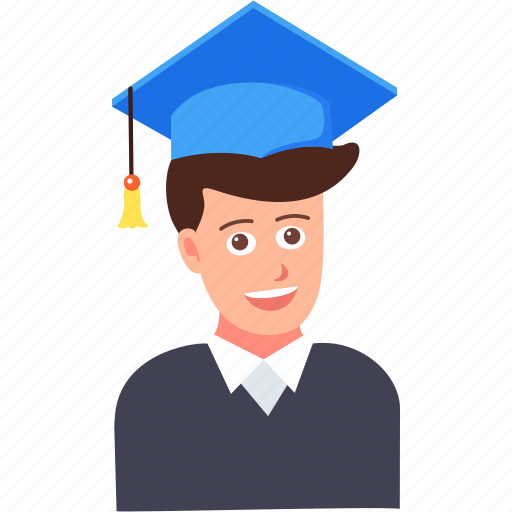 education, graduate, graduation, hat, student, study icon