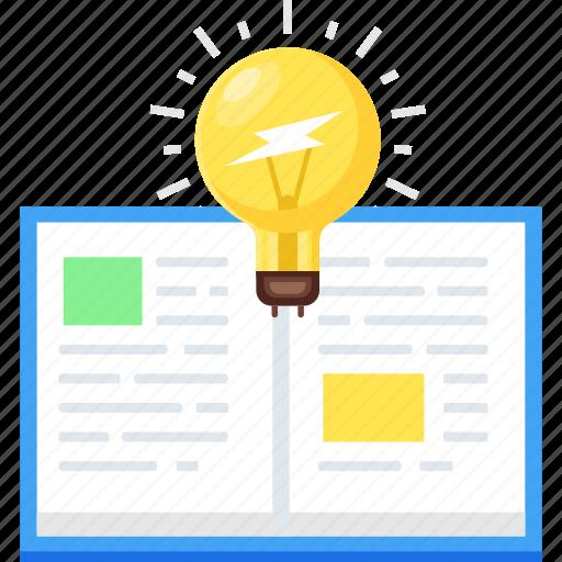 book, education, idea, knowledge, reading, study icon