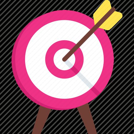 achievement, archery, dartboard, goal, success, target icon