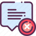answer, comment, communication, delete, question icon