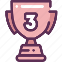 cup, place, third, win, winner icon