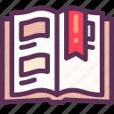album, memory, photo, reading icon