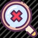 delete, loop, microscope, search, zoom icon