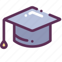 academic, cap, education, square, university icon