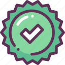 done, medal, success icon