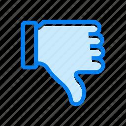 deslike, lose, vote icon