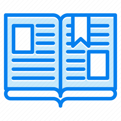 book, bookmark, education, open, study icon