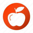 apple, education, fruit, school, study icon