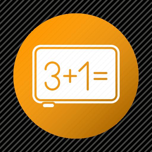board, education, math, school, study icon