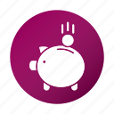 education, finance, piggy bank, school, study icon