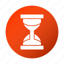 education, hourglass, school, study, timer icon
