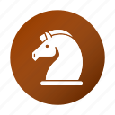 education, horse, school, strategy, study icon