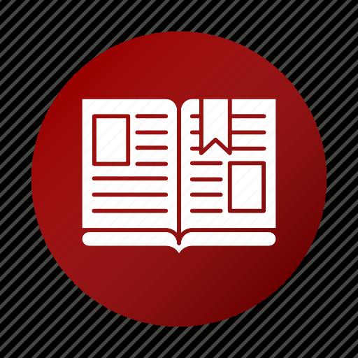 book, open, read, school, study icon