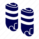 exercise, feet, pool, sport, water, weights icon