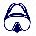 diving, mask, scuba, sport, water icon