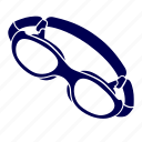 exercise, goggles, pool, sport, swimming, water icon