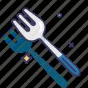dinner set, dinnerware, fork, tableware icon