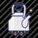 cookstove, kettle, pot, stove, tea kettle icon