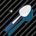 dinnerware, serving spoon, soup, spoon, tableware icon