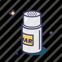can, jar, pepper, seasoning, tableware icon