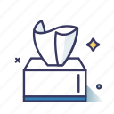 tableware, tissue, tissue paper, toilet paper icon