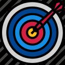 darts, goal, target icon icon