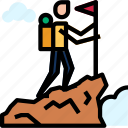 climber, climbing, mountain icon icon