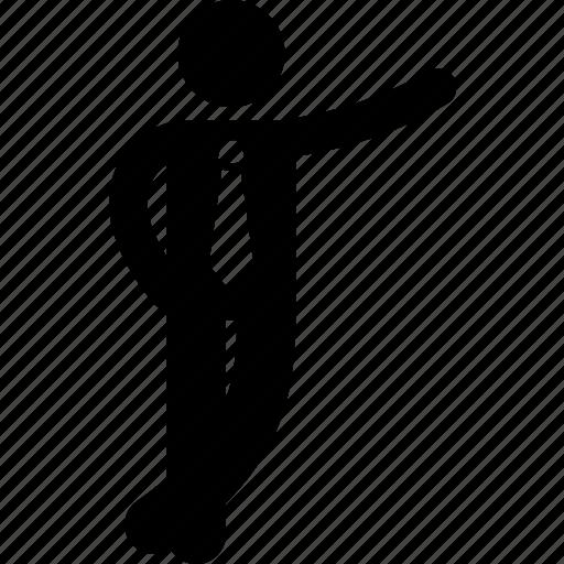 businessman, cool, posture icon