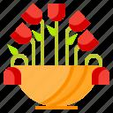 cactus, flower, plant, pot, succulent, thanksgiving, vas