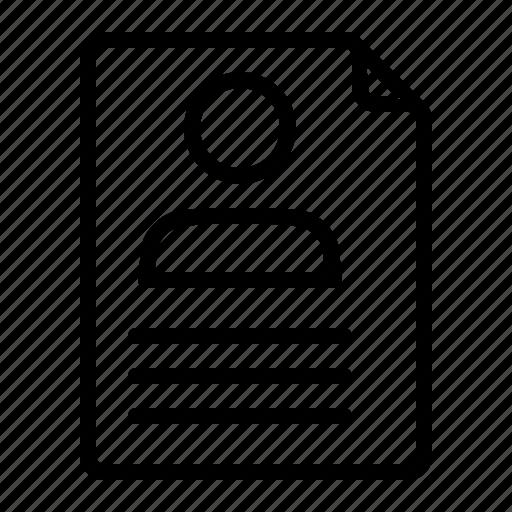 document, job, profile, resume icon
