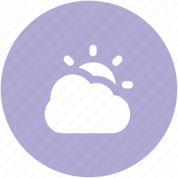 cloud, cloudy, morning, sun, sunny cloudy, sunrise, sunset, weather icon