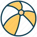 ball, beach ball, game, sport, summer, tour, toy icon