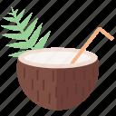 beach, coconut, coconuts, summer, vacation icon