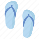 beach, flip, flip flops, flops, sandals, shoes, summer icon