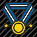 achieve, college, medal, prize, reward, school icon