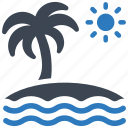 beach, sea, summer icon