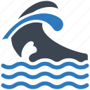 ocean, sea, waves icon