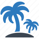holiday, island, palm icon