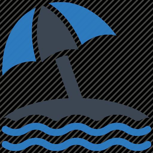 Beach, umbrella, vacation icon - Download on Iconfinder