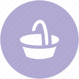 basket, bucket, food basket, hotel basket, pail, shopping basket icon
