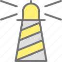 beach, building, direction, lamp, light, lighthouse, tower icon