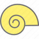 animal, beach, shell, snail icon