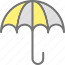 beach, rain, umbrella, vacation icon