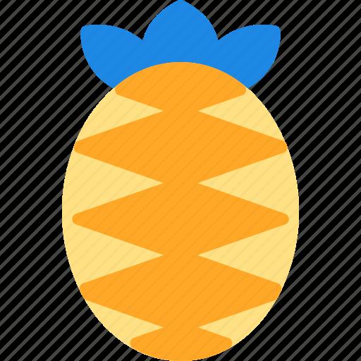 beach, fresh, fruit, pineapple, vacation icon