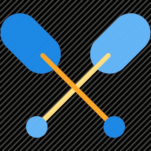 boat, kayak, rowing, vacation icon